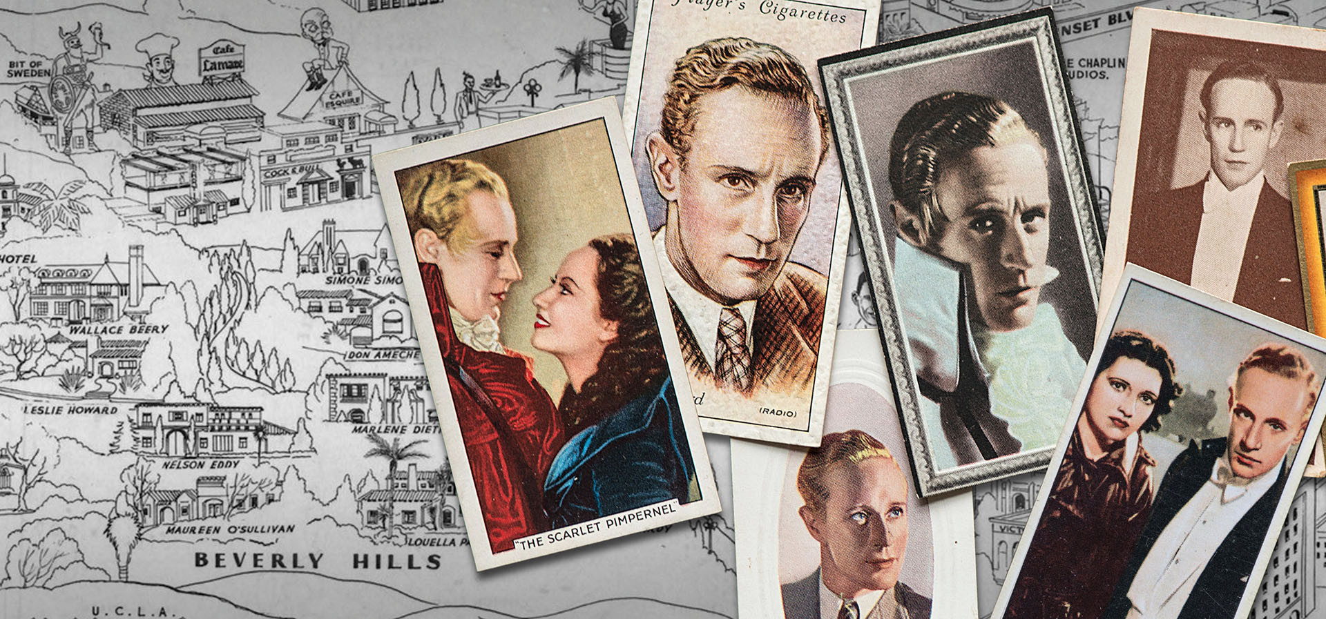 Cigarette card images of Leslie Howard