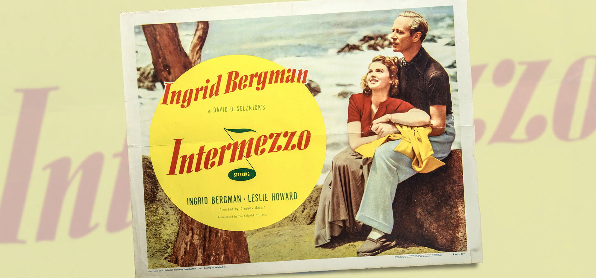Leslie Howard and Ingrid Bergman in Intermezzo